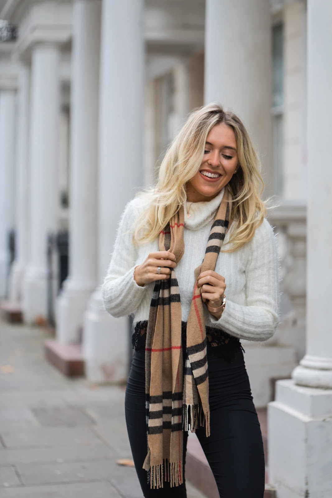 styling a burberry scarf