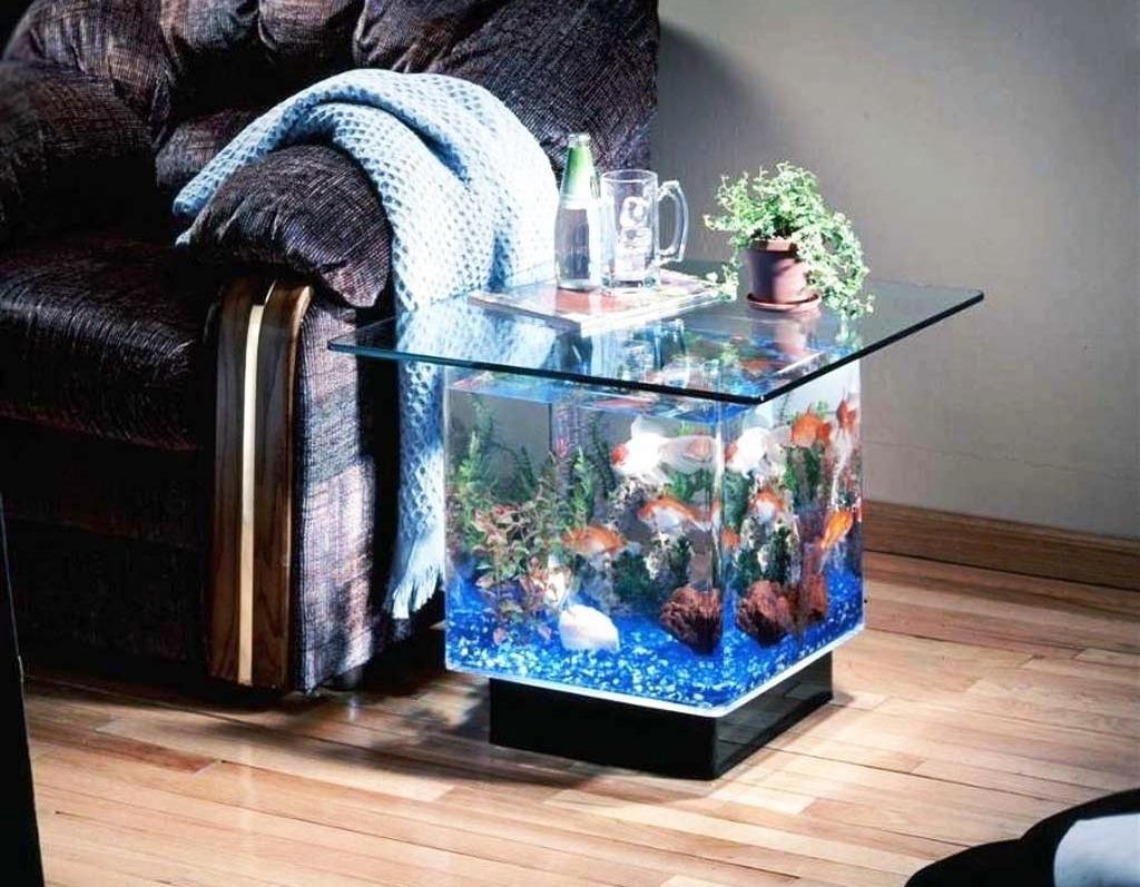 35 Contoh Model Dan Harga Meja Tamu Aquarium Unik Dari Kayu Besi Tutup Pipa Filtrasi Aquascape Ruang