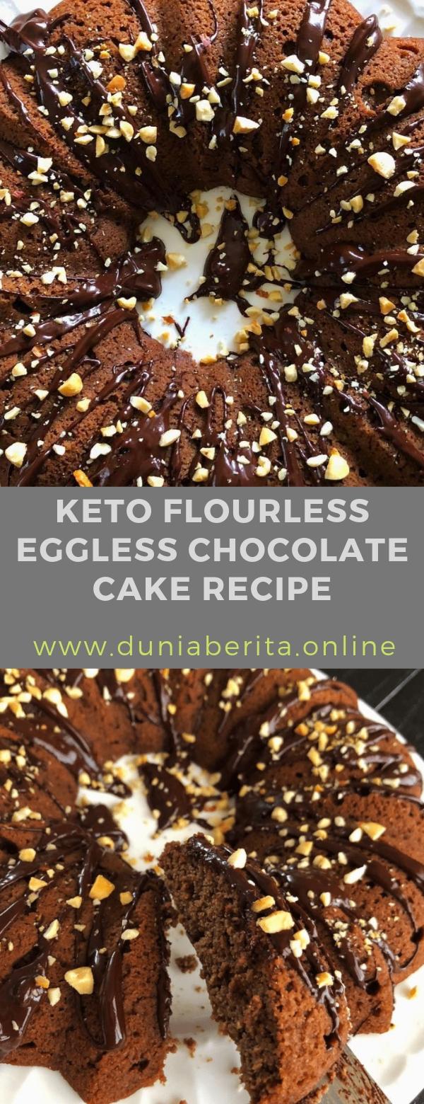 KETO FLOURLESS EGGLESS CHOCOLATE CAKE RECIPE