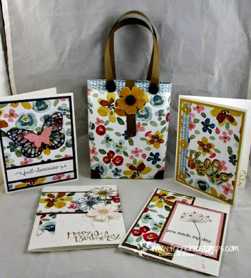 Tote bag for cards, Frenchiestamps. PDF
