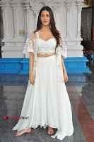 Telugu Actress Amyra Dastur Stills in White Skirt and Blouse at Anandi Indira Production LLP Production no 1 Opening  0121.JPG