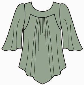 esquema de patrón blusa tallas grandes