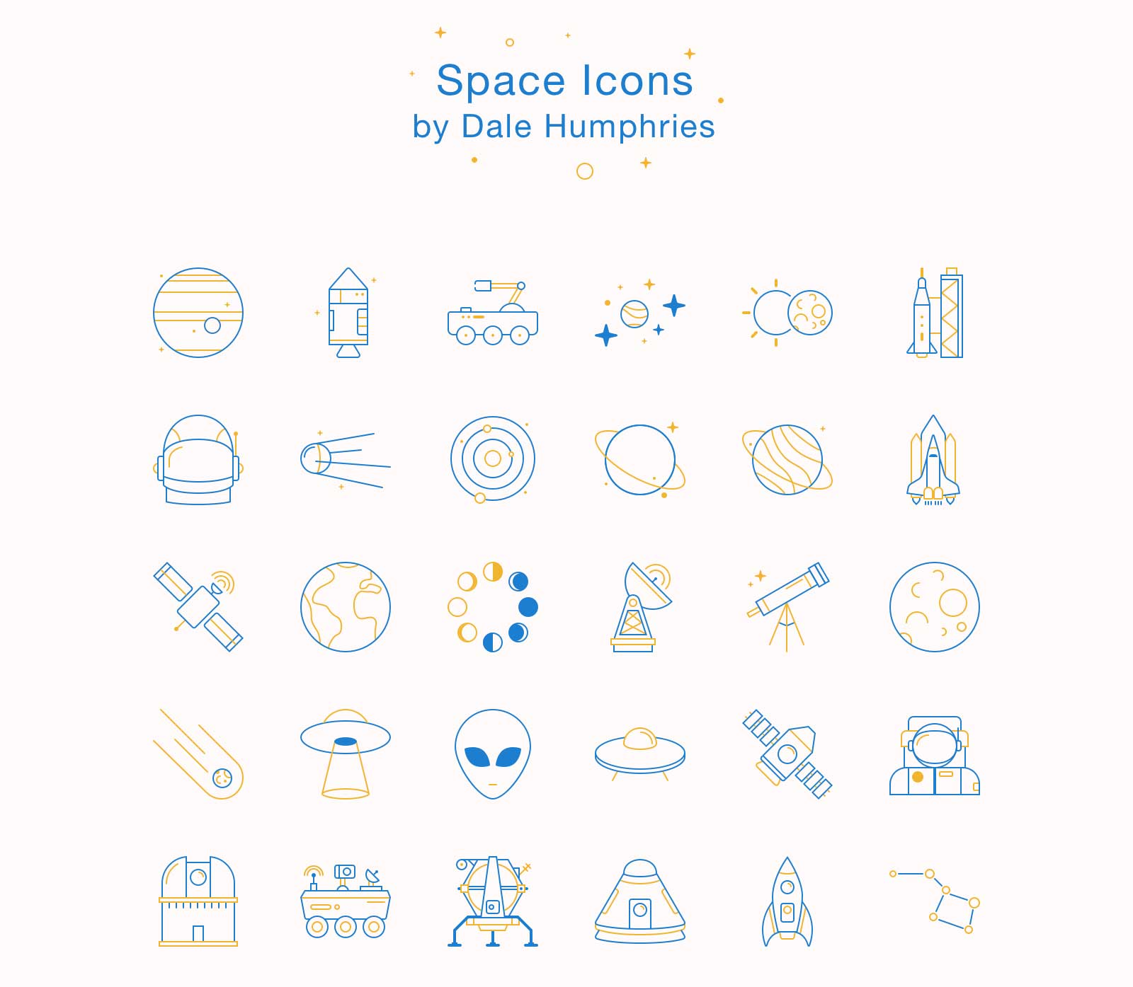 30 Astronomy And Space Icons