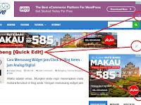 Cara Menghilangkan Ikon Tang & Obeng [Quick Edit Widget] Di Blog