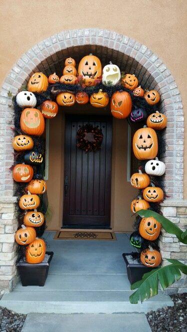 halloween kapı süsleme