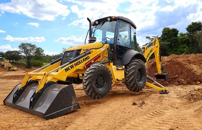 New Holland Construction reforça na Expodireto o crescimento da linha amarela no campo