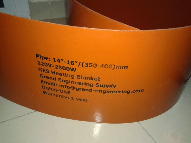 GRP/GRE/RTR PIPE HEATING BLANKETS