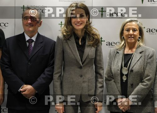 "Crown Princess Letizia attended the information day of the ""Importance of Research in Cancer"" at AECC headquarters in Madrid"