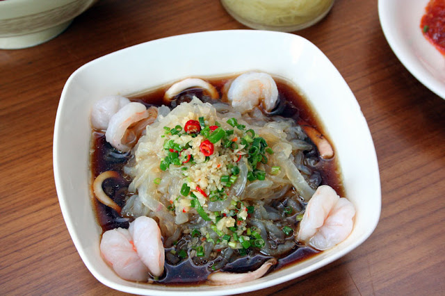 Chilled Jellyfish and Seafood in Vinaigrette