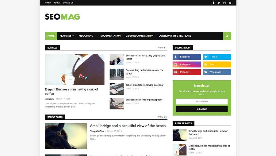 Seo Mag - Responsive Blogger Template
