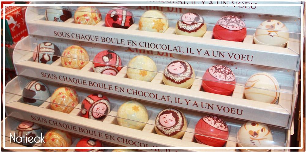 boules de Noël chocolat Chapon