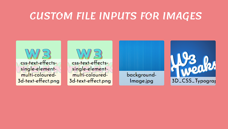 Custom File Inputs