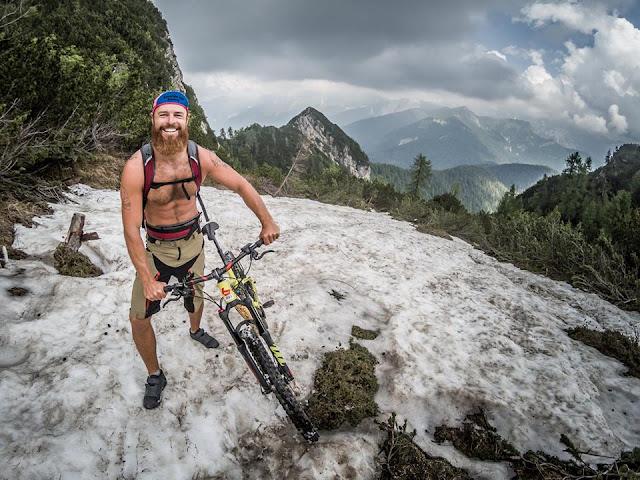 Auffahrt Monte Flop MTB Mountainbike Bike