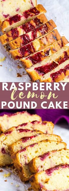 RASPBERRY SWIRL LEMON POUND CAKE