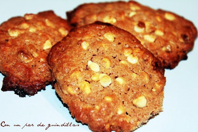 Cookies de chocolate blanco