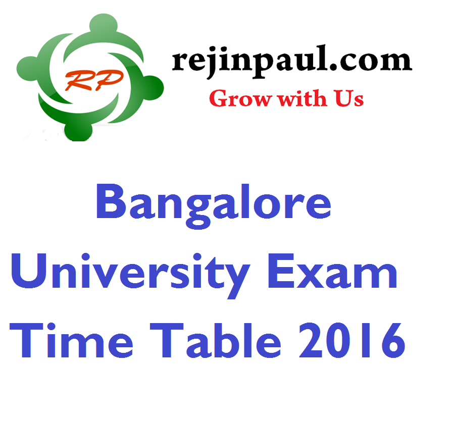 Bangalore university 1st 3rd 5th semester time table nov for Bu time table 5th sem