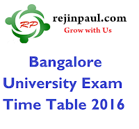 Bangalore University Exam Time Table 2016 Nov Dec UG PG BCOM BCA BSC MBA PDF