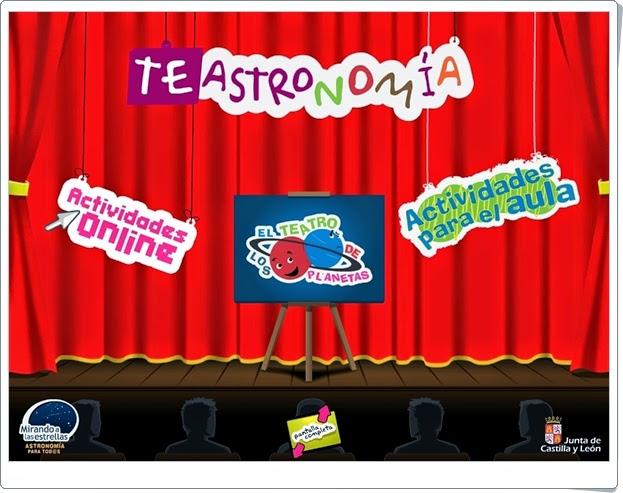 TeAstronomía Actividad intractiva online para Educación Infantil