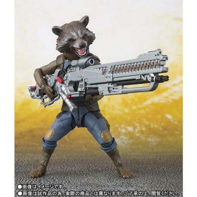 "S.H.Figuarts Rocket Racoon de ""Avengers: Infinity War"" - Tamashii Nations"