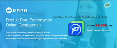 Hallo Apa kabar Semua?  Kali ini saya akan mencoba mengulas sesuatu bisnis dengan sebuah metode yang dapat menguntungkan kalian bagi para pelaku usahanya. Sebagai permulaan saya akan memperkenalkan sebuah aplikasi yang sedang hangat-hangatnya bagi para pelaku bisnis, dan akan mendapat keuntungan sangat besar sekali jika memiliki fasilitas ini. Aplikasi apakah ini? DANA !!!    Yap, Aplikasi Dana adalah Model pembayaran terbaru yang diluncurkan oleh PT. Espay Debit Indonesia Koe, aplikasi ini sedang hangat sekali di dunia perbisnisan karena memberikan hadiah berupa voucher Token Listrik yang Nominalnya 25.000 langsung tanpa diundi. Jadi setiap penggunanya hampir 100% bisa mendapatkan voucher ini. program yang diberikan aplikasi ini akan berlangsung sampai tanggal 31 maret 2019 mendatang. Tapi dengan TOS yang diberikan oleh pihak Perusahaan.    Kemudian saya akan menjelaskan bagaimana cara mendapatkan keuntungan besar dan tidak terlalu ribet untuk mendapatkan voucher dari aplikasi ini, tentunya voucher untuk transaksi PLN Token   20 .000    Langkahnya:    1. Siapkan satu buah Handphone merk Xiaomi 5A    Kenapa harus Xiaomi type ini, karen xiaomi type ini sudah memilki fitur clone app bawaan yang nantinya akan dipergunakan untuk registrasi 50 akun sekaligus dalam satu device, tetapi memiliki Id device yang berbeda ketika di clone atau di gandakan. jadi tidak harus mencari handphone lain untuk registrasi, karena sesungguhnya yang diperbolehkan hanya dalam satu device dan satu akun.    2. Sediakan Kuota jaringan yang Speednya di atas rata-rata saya sarankan menggunakan provider Telkomsel.    Kuota ini berguna untuk menghubungkan aplikasi dan device agar bisa registrasi, karena saat registrasi,  harus terhubung dengan internet agar bisa mendaptkan voucher, mungkin ada pertanyaan seperti ini, bagaimana kalau menggunakan wifi agar lebih irit, tidak bisa, dari pengalaman pribadi jika menggunakan metode wifi, voucher tidak akan keluar, jadi percuma mau ngirit tapi yan ada tida