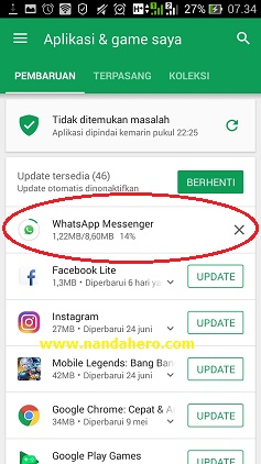 perbarui whatsapp messenger 2018