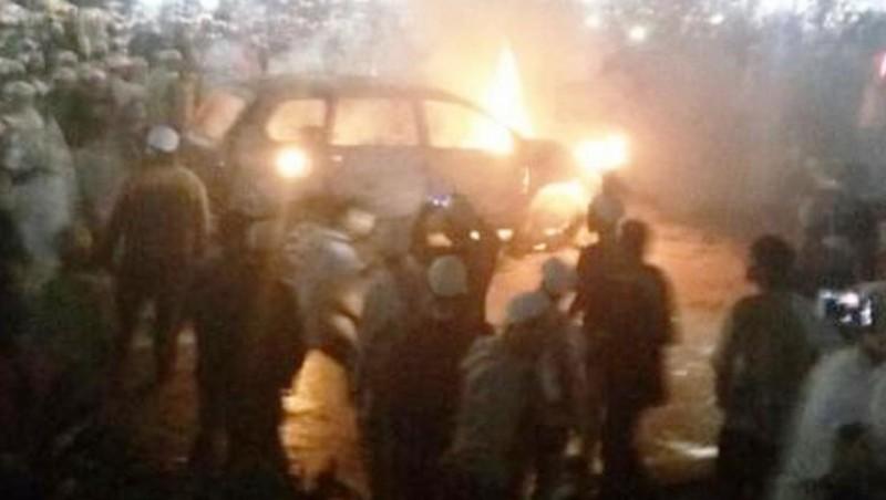 Mobil terbakar dengan lokasi Rizieq berceramah