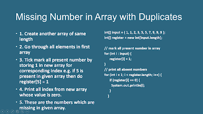 How to Find Multiple Missing Integers in Given Array of