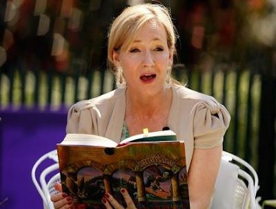 JK Rowling leyendo Harry Potter