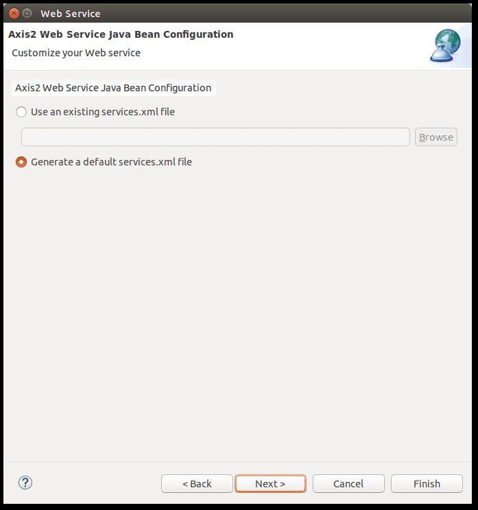 Apache Axis2 - Hello World! using Eclipse