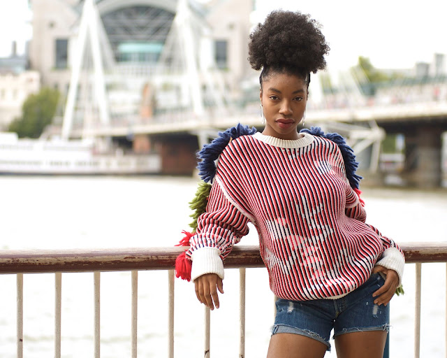model bright jumper standing thames