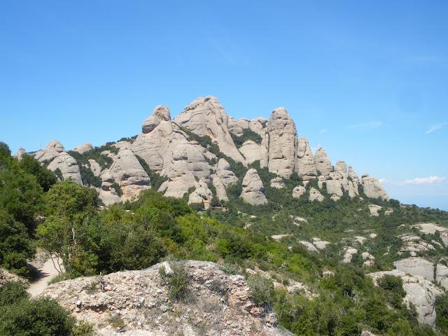 Ruta senderista per Montserrat, Camí de les Bateries, Catalunya