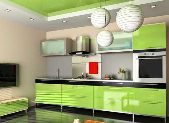 Kabinet Dapur Hijau Desainrumahid Kotaksurat Co
