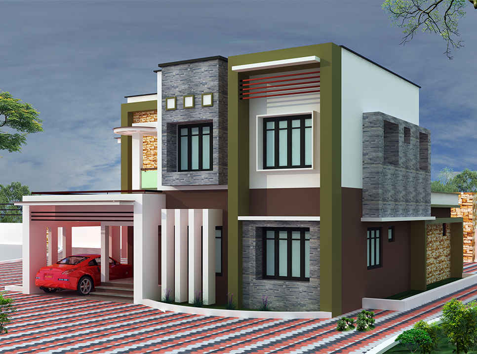 3200 sq ft 4 Bedroom Kerala style villa design