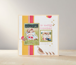 CTMH Stamp Set Scrapbook Layout