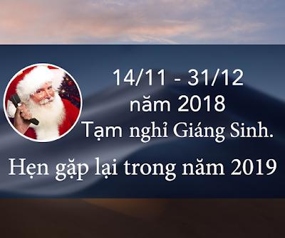 Lịch nghỉ lễ Giáng Sinh sớm của Dịch vụ cài macOS