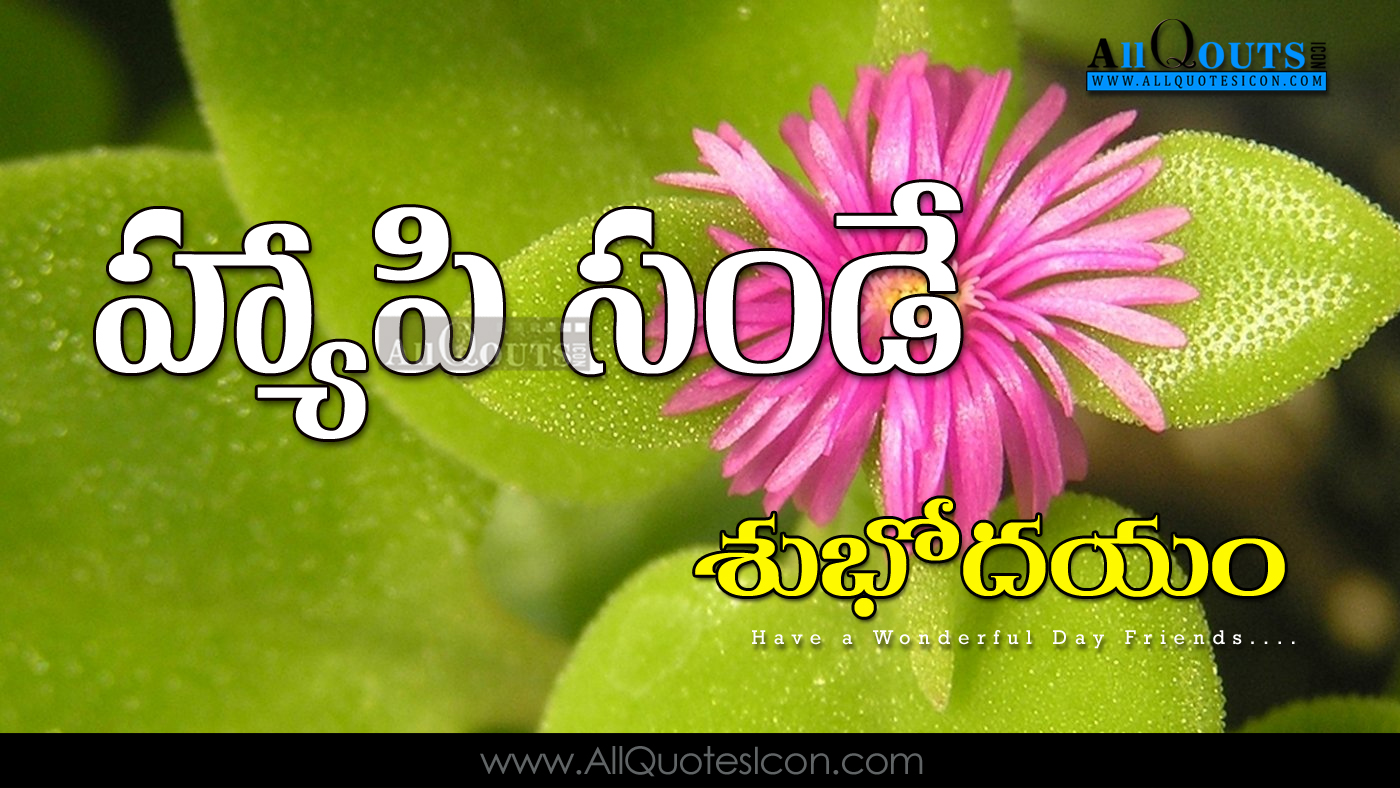 Happy Sunday Telugu Quotations Wallpapers for Friends ...