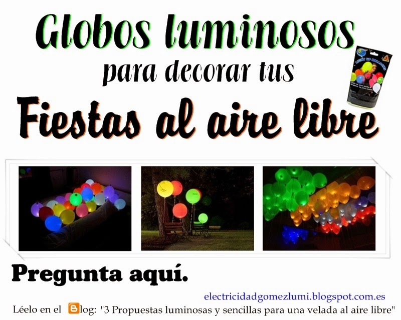 Pack de 5 globos luminosos led de diferentes colores