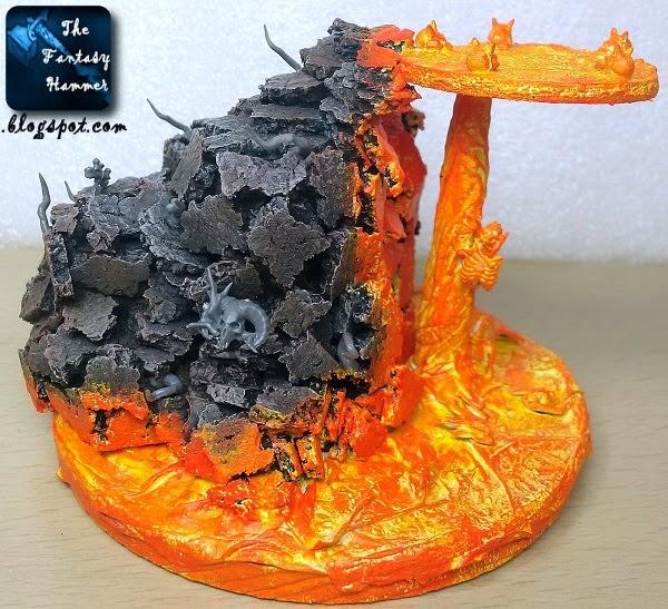 Warhammer diorama lava base WiP2d