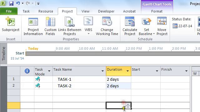 Funny Trick in Microsoft Project