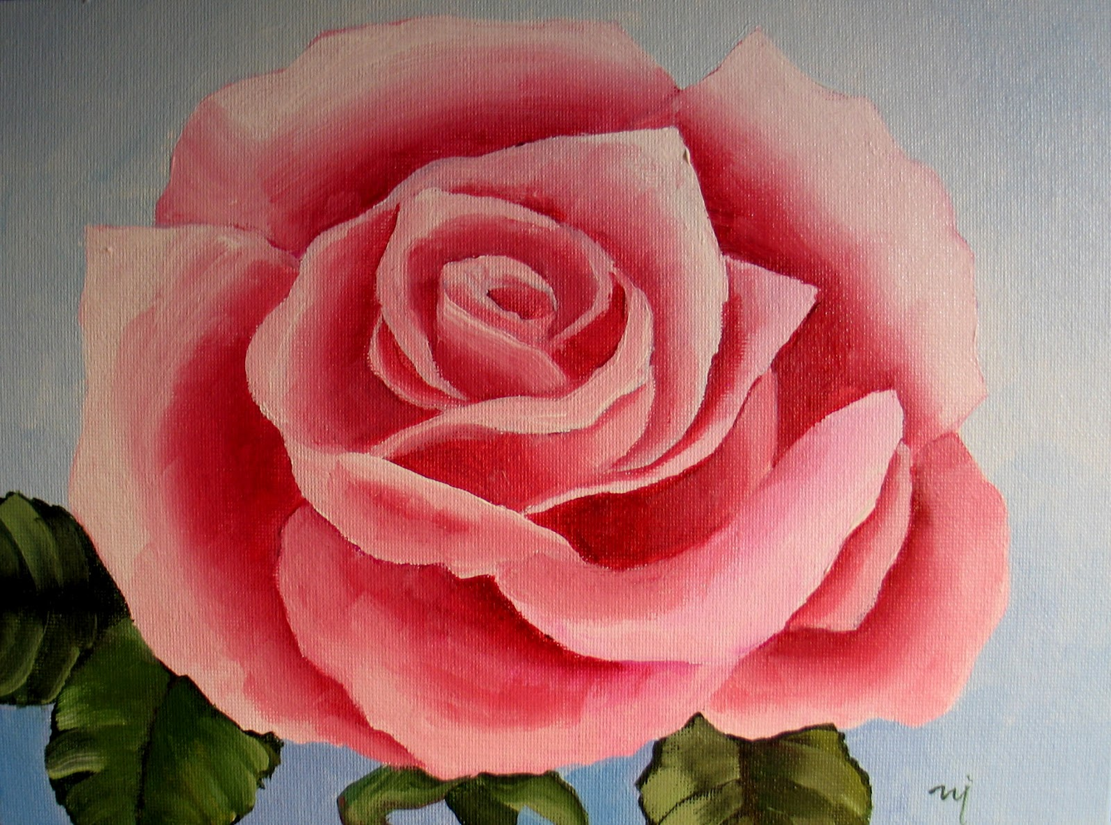 Nel 39 s everyday painting roses searching for simple sold for How to paint a rose in watercolor step by step