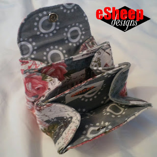 DIY Accordion Pouch crafted by eSheep Designs