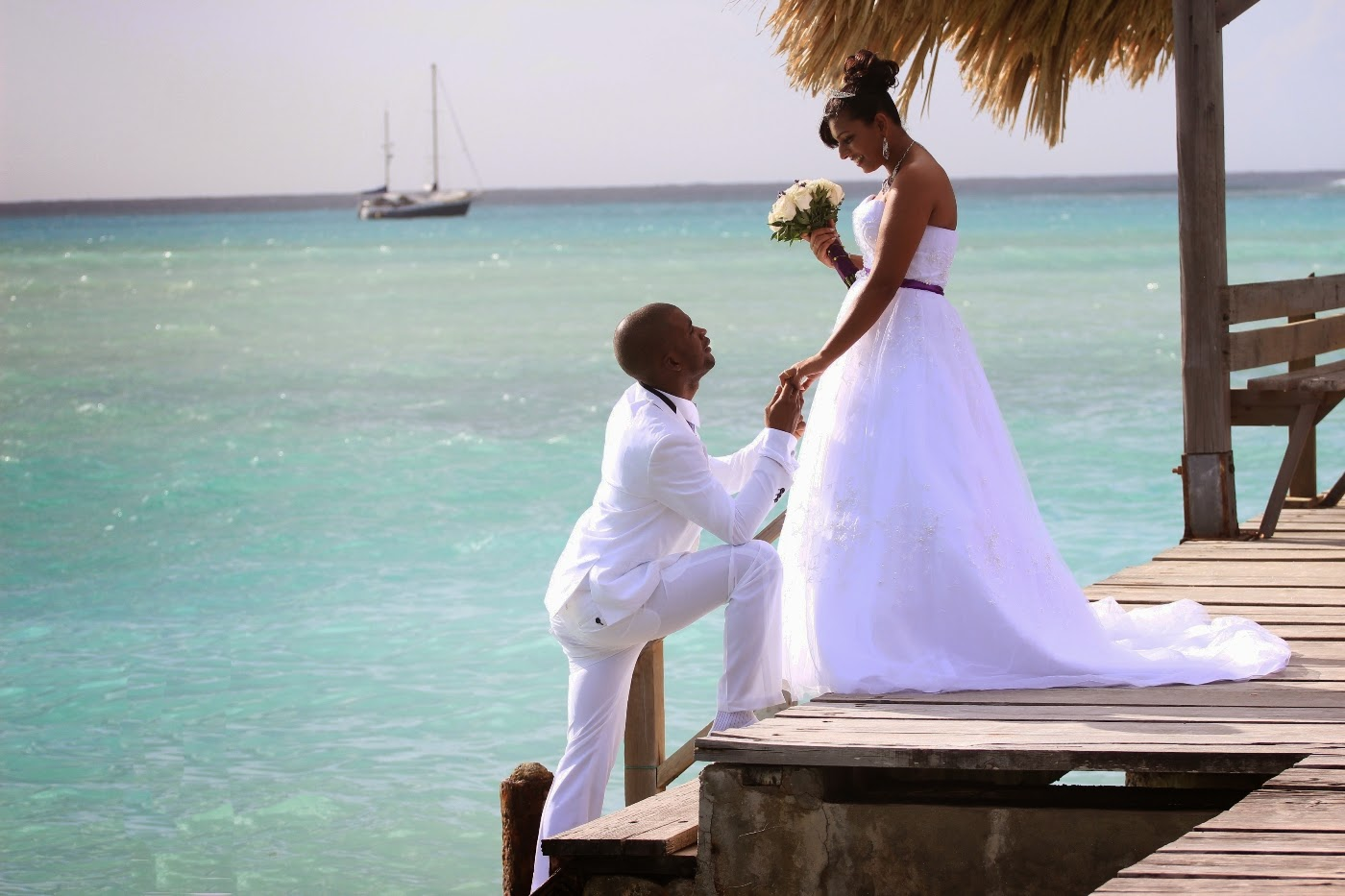 Pigeon Point weddings 'Trini-lime' wedding package by Tobago Weddings