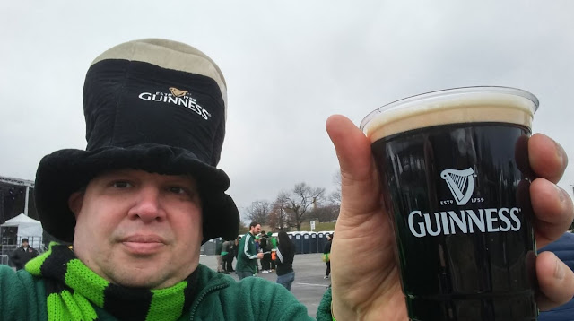 A Guinness toast on St. Patrick's day at Shamrockfest