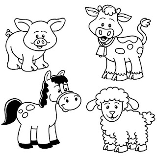 Cute Baby Farm Coloring Pages Animals