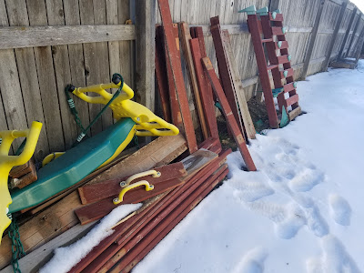 Decorative Wood Sled, Over The Apple Tree