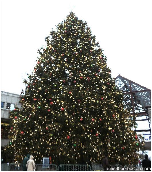 Árbol de Navidad de Faneuil Market en Boston