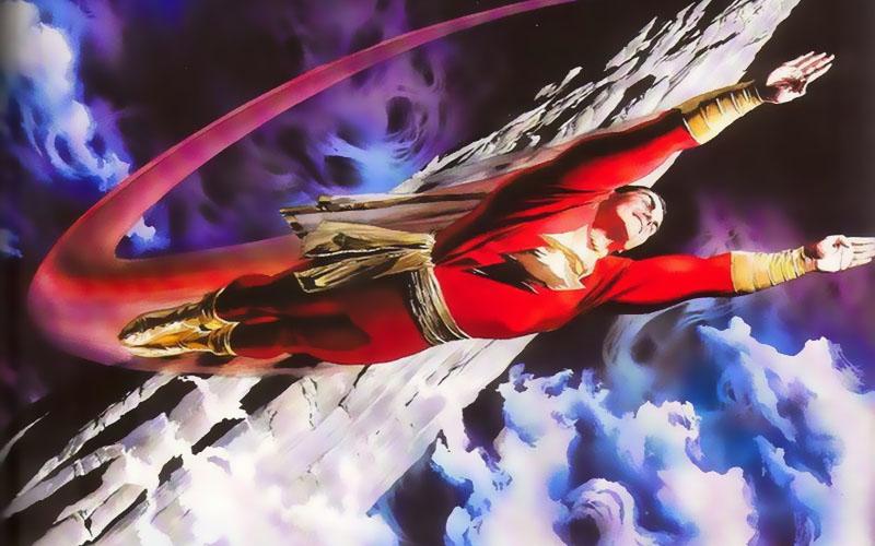 Capitán Marvel ante la Roca de la Eternidad