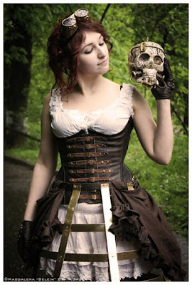 Steampunk cage skirts are inspired by victorian era cage crinoline petticoat hoop skirts