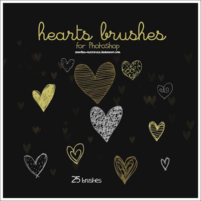 pinceles de corazones para photoshop