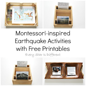 Montessori-inspired Earthquake Activities with Free Printables